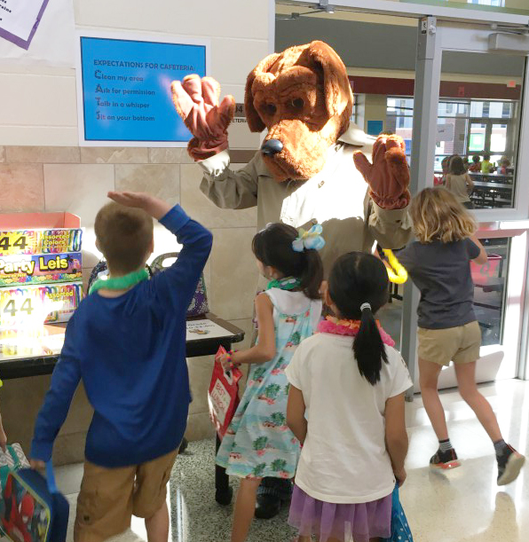 McGruff is always a hit with the kids.